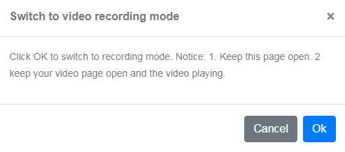 switch to video recording mode